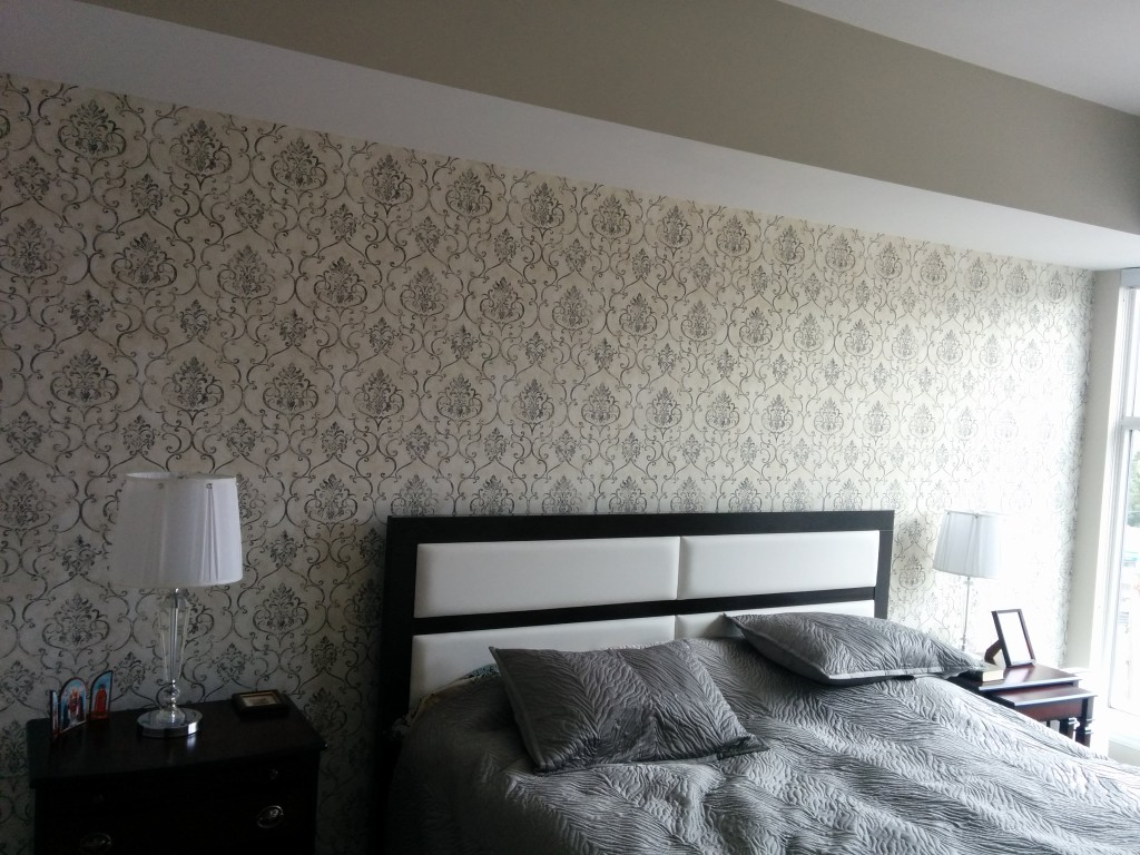wallpaper cost, toronto house painting, wallpaper installation, wallpaper hanging, CAM Painters