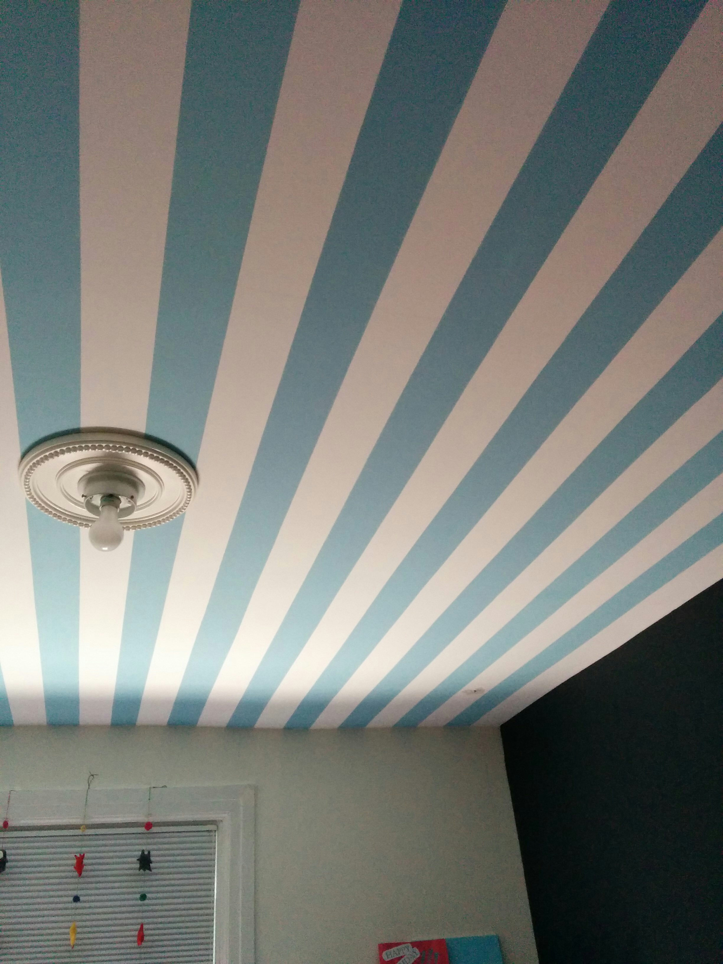 bedroom painting, interior painting, Toronto house painters, stripes, painter's tape