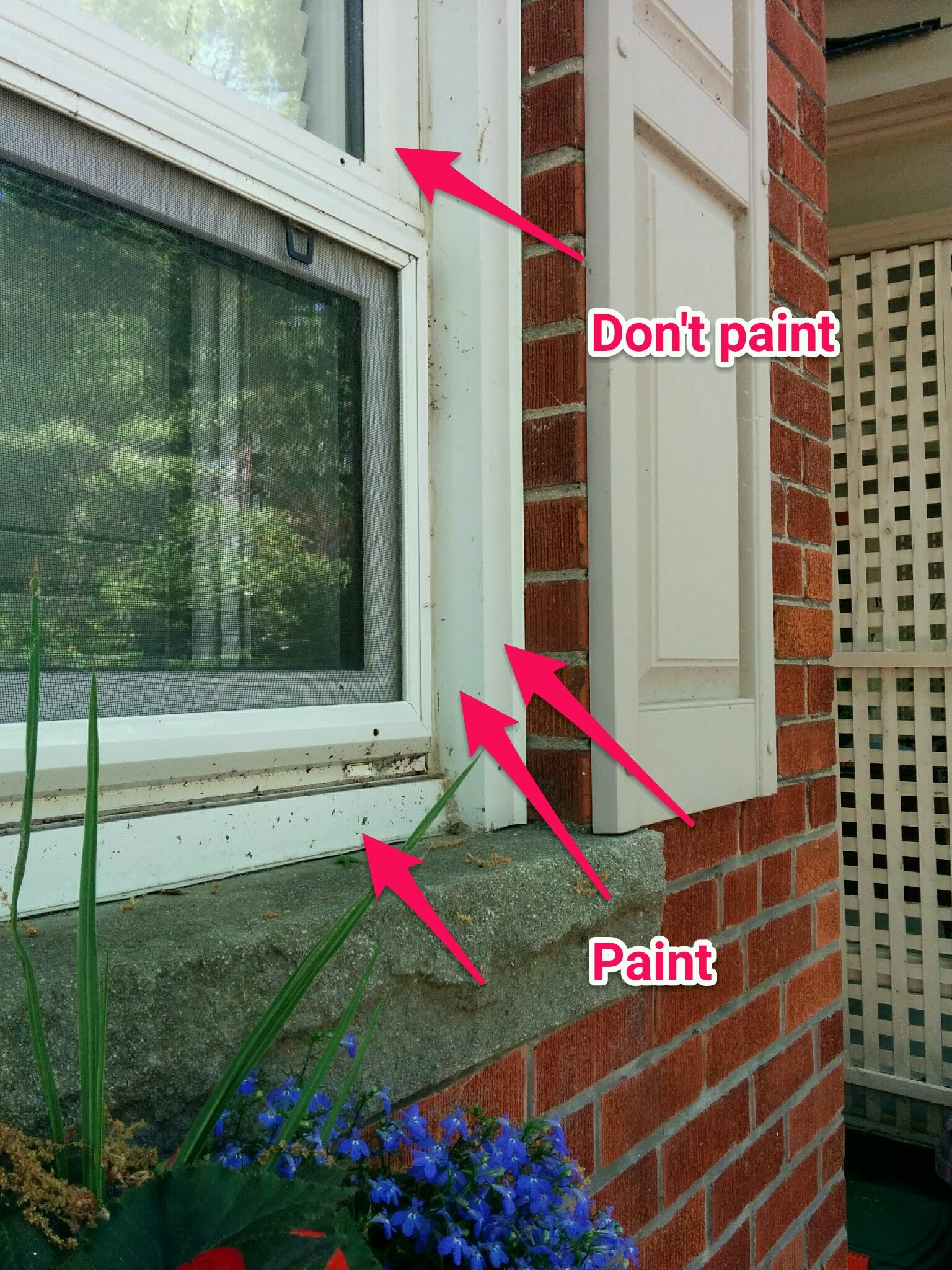 3 Reasons To Paint My Quot Maintenance Free Quot Windows Cam