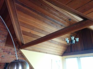 Natural Wood Ceiling- Toronto Home Painting - House Painters, CAM Painters