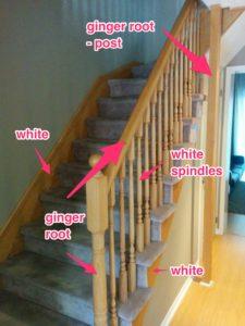 Railing With Descriptions of Work - House Painters, CAM Painters