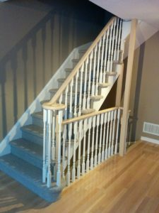 Toronto house painters, staircase, CAM Painters