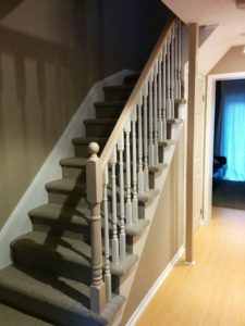 Finished Stair Railing Project - House Painters, CAM Painters