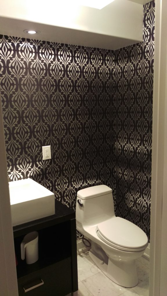 dark wallpaper, toronto wallpaper installation