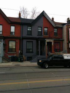 painted vinyl windows, Toronto house painter, exterior painting