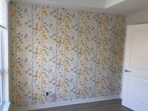 toronto wallpaper installation, accent wall
