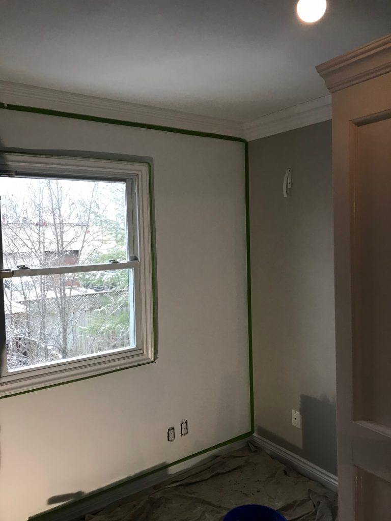 toronto house painter, chevron stencil, pattern walls