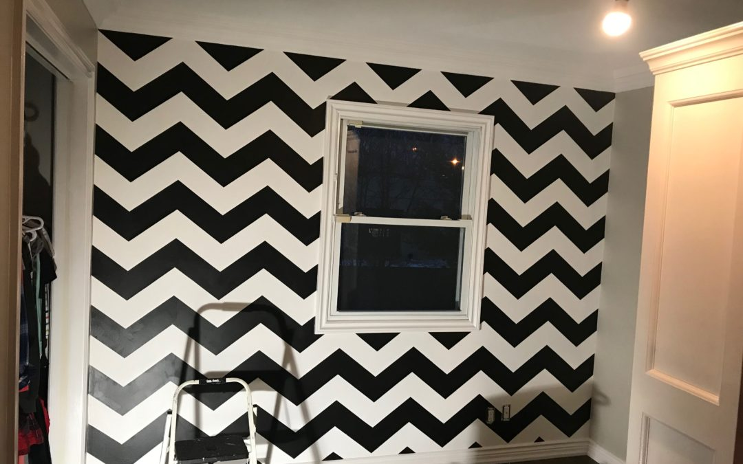 Toronto Accent Wall Project:  Chevron Stencil